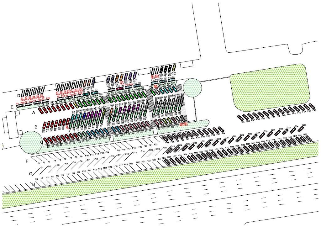 Схема парковки участников.