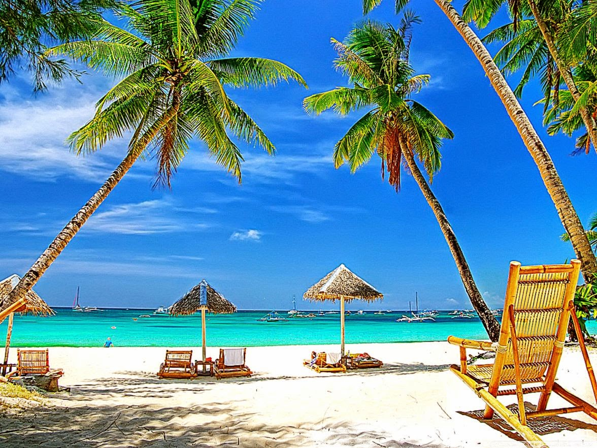 Tropical Paradise Beach HD desktop wallpaper  High Definition