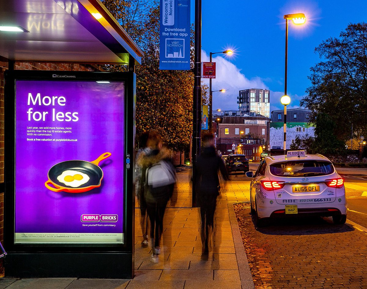 Purple Bricks have burst onto the scene and are using strategic OOH to appeal to both buyers and sellers.