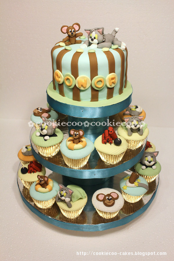 Cookiecoo Tom Jerry Tiered Cake Cupcake For Conor