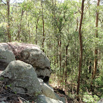 Boulders near valley view on Glasson's Trail (237764)