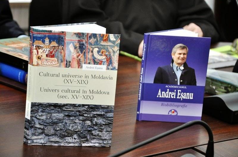 Eşanu A. Cultural universe in Moldavia (XV-XIX). Univers cultural în Moldova (sec. XV-XIX). Studii. AȘM. Institutul de Istorie. Chișinău 2013. Lexon-Prim, 328 p. ISBN 978-9975-4476-6-9