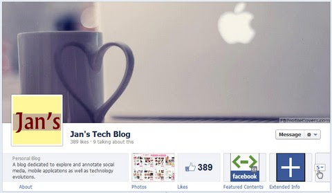 Facebook Timeline for Page only shows top 3 apps at first glance