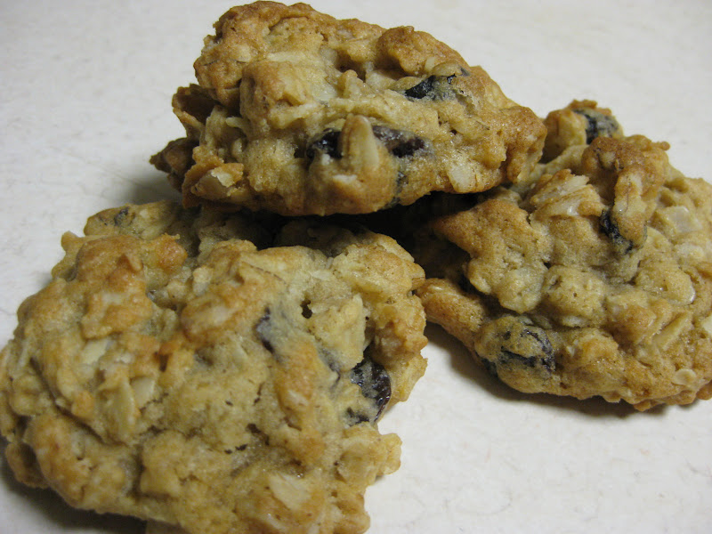 Oatmeal-raisin-nut cookies