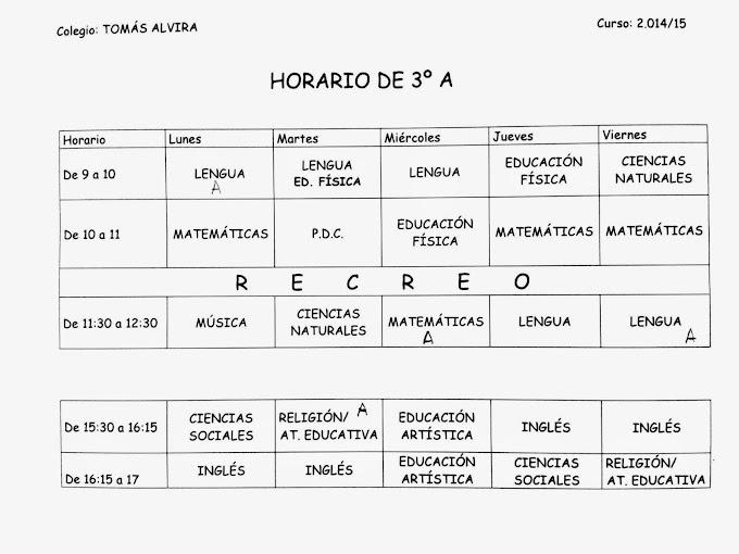 Horario 3ºA