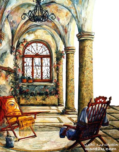 منازل وتصميمات رسم في لوحات