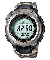 Jam Tangan Pria Digital Tali Titanium  Casio Protrek : PRW-3100YT-1