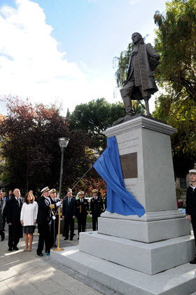 Blas de Lezo ya tiene un monumento en la plaza de Colón