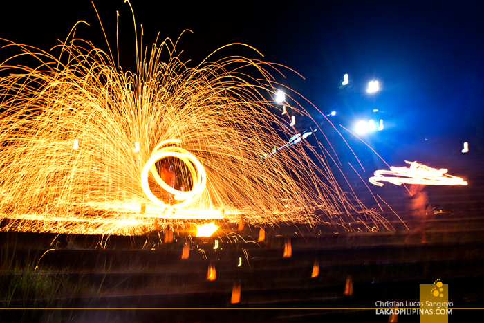 Fire Dancers at Albay's Misibis Bay