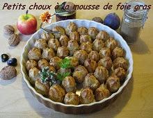 Petitschoux à la mousse de foie gras