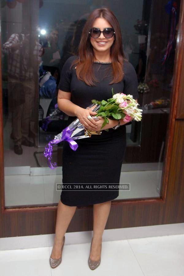 Mahima Chaudhary at Vishal Barbate's do at Nag road in Nagpur.