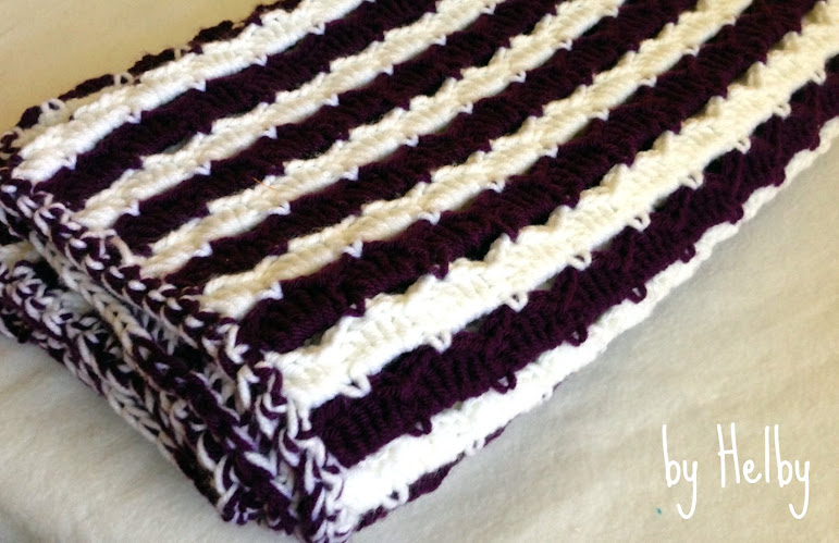 Crochet purple baby blanket