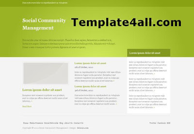 Social Green Silver CSS Website Template