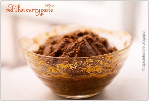Red Thai Curry Paste  or Krung Kaeng Phed by Spicie Foodie | #redcurry #thaicurry #currypaste