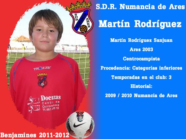 ADR Numancia de Ares. Benxamíns 2011-2012. MARTIN RODRIGUEZ.
