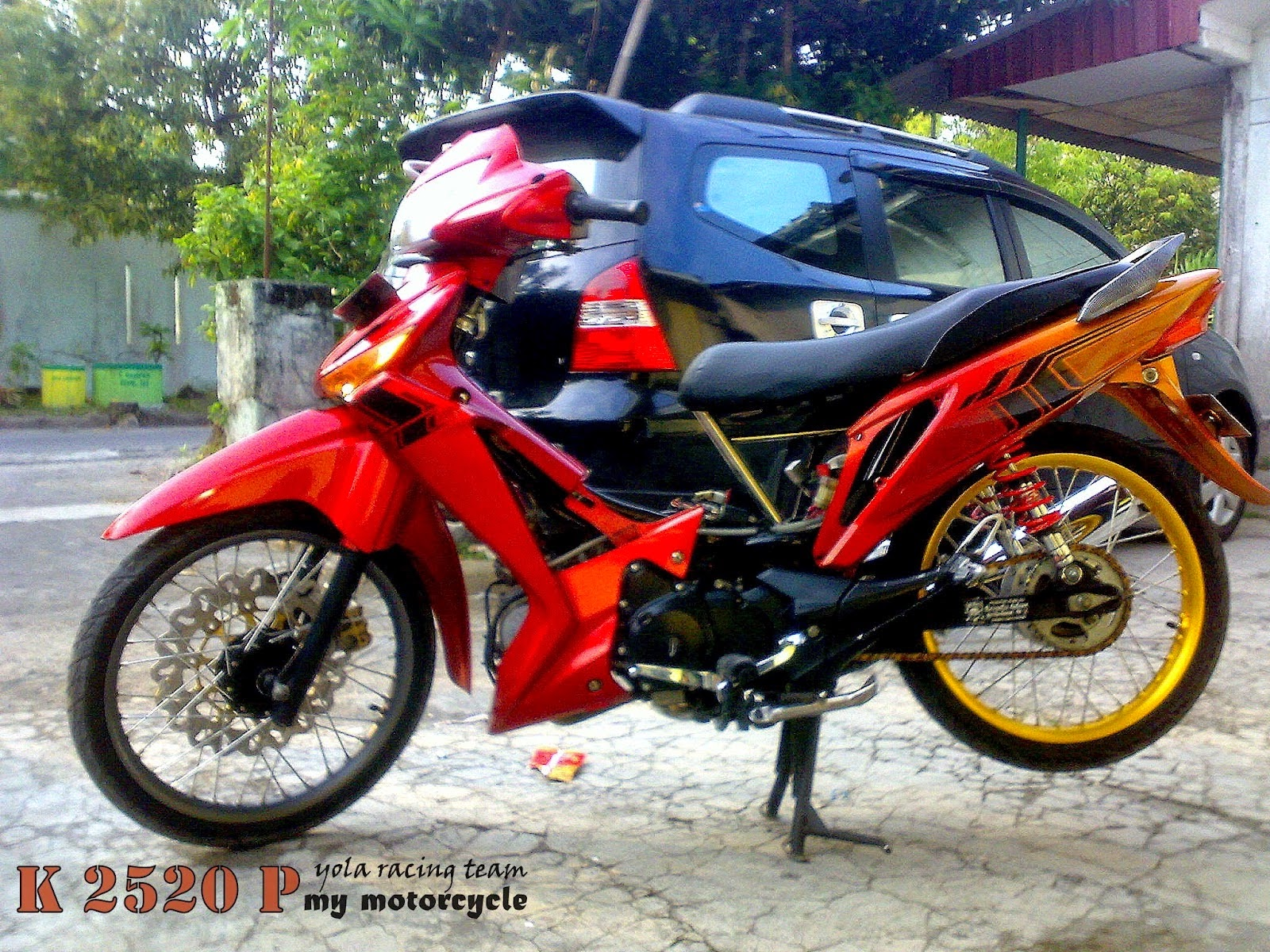 Modifikasi Motor Supra X Drag