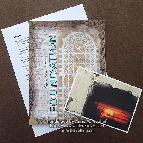 No Rules Art Journal handmade by Anne Gaal of http://gaalcreative.com