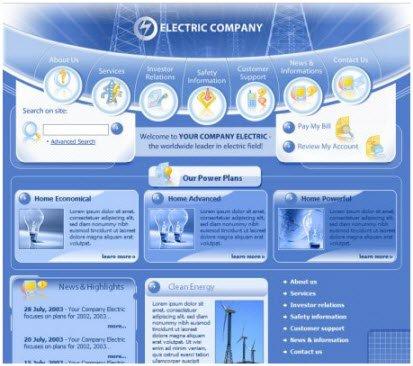 web template electric company habitat design. Black Bedroom Furniture Sets. Home Design Ideas
