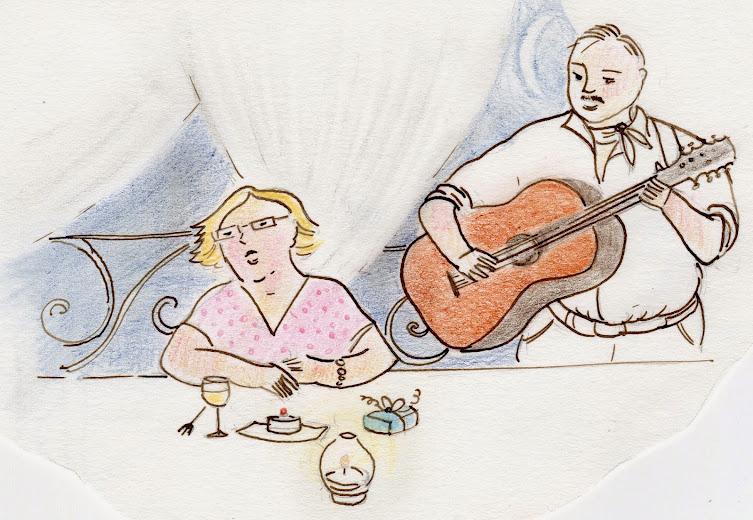 Cantante e chiatrrista per un compleanno particolare