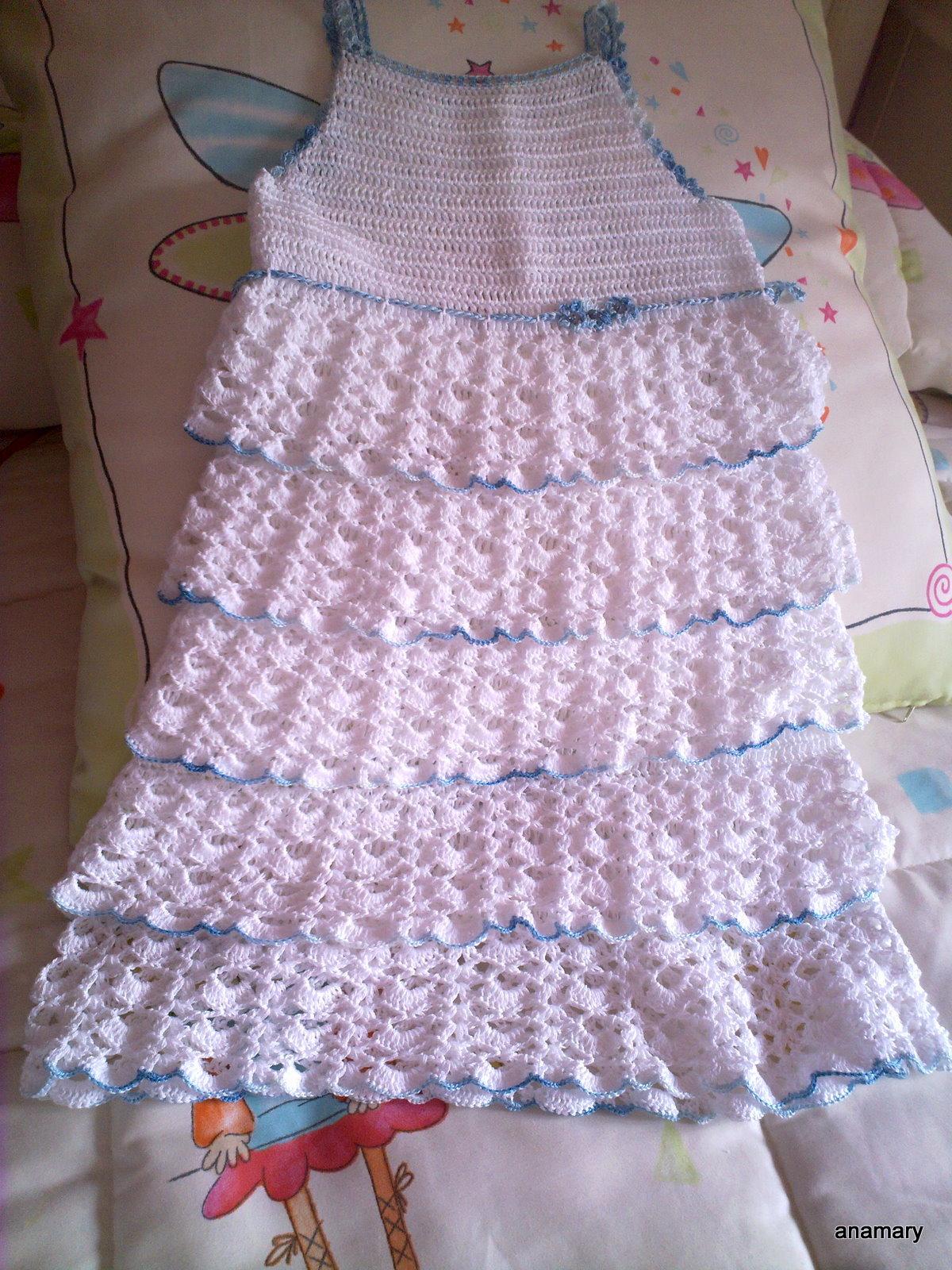 El blog de anamary tutorial vestido crochet for Remates a ganchillo