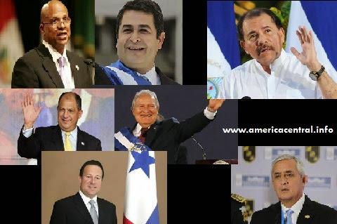 Presidentes actuales de Centroamérica