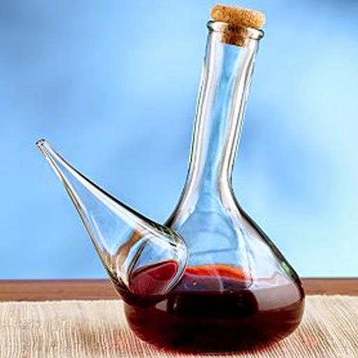 Porrón de vino tinto