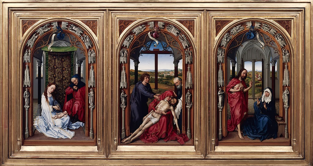 Rogier van der Weyden - The Altar of Our Lady (Miraflores Altar)
