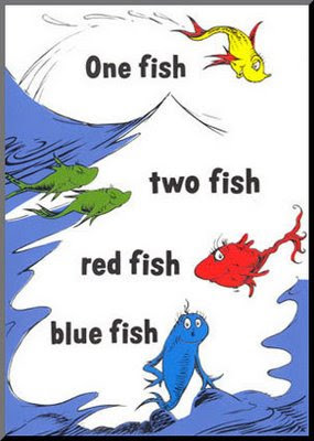 Dreams Happy Things Dr Seuss One Fish Two Fish Fish Blue Fish Coloring Pages