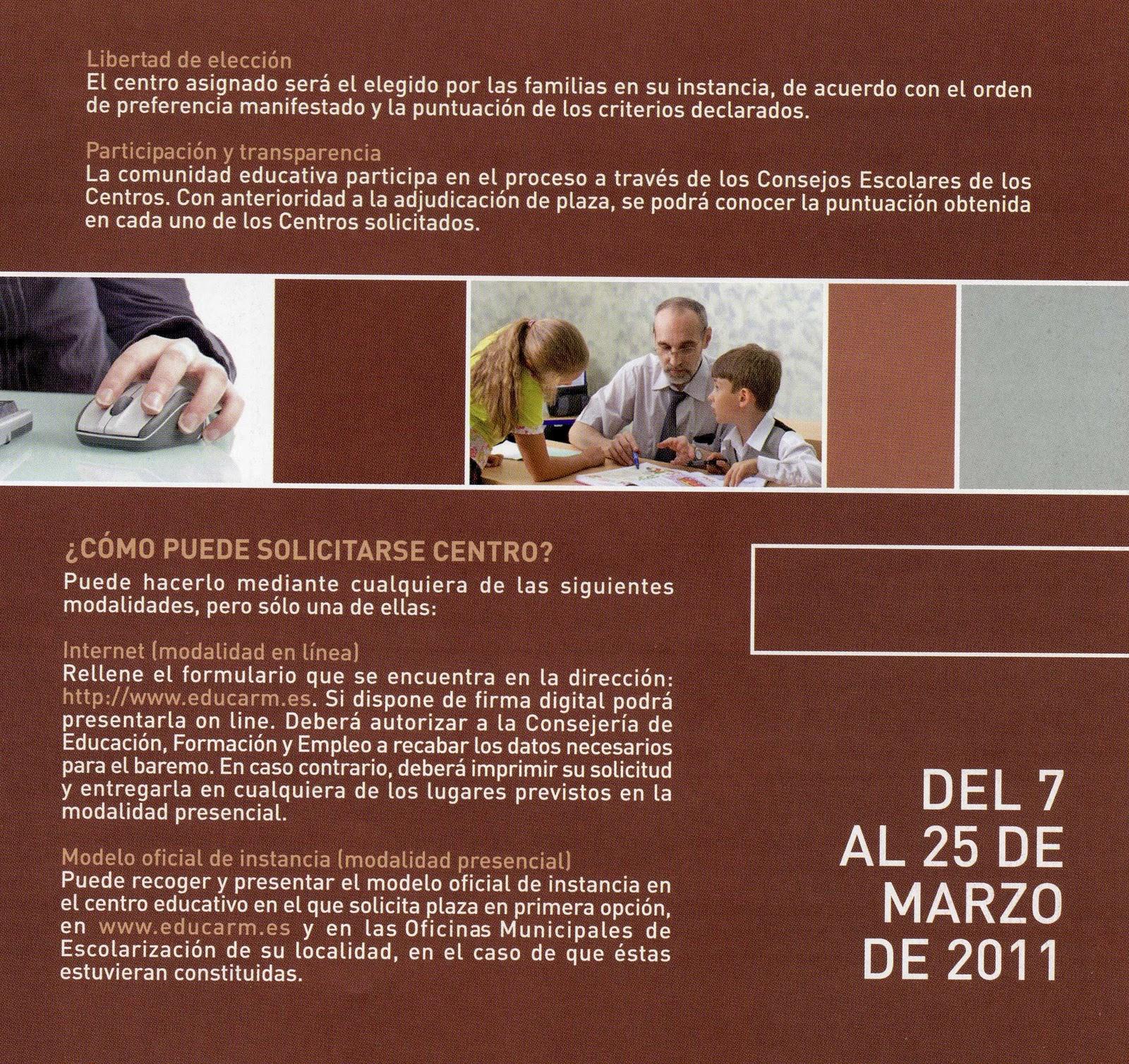 Admision Escolar: Ampa: ADMISION ESCOLAR 2011-2012