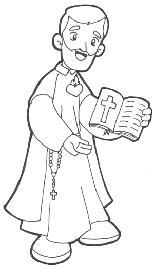 saint philippe neri coloring pages