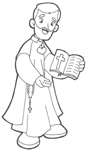 San Felipe Neri para colorear