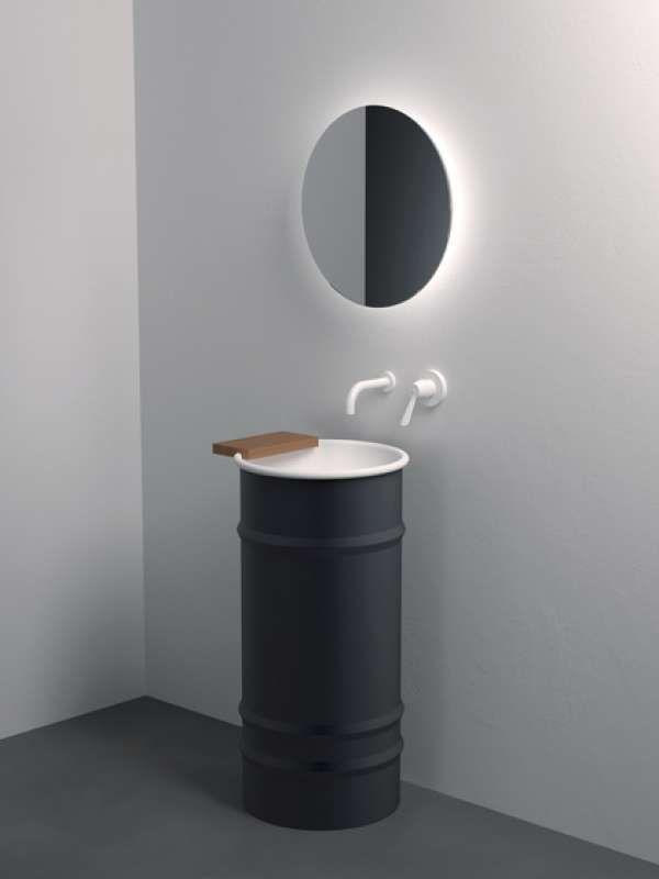 tonneau en lavabo de salle de bain - style déco industriel
