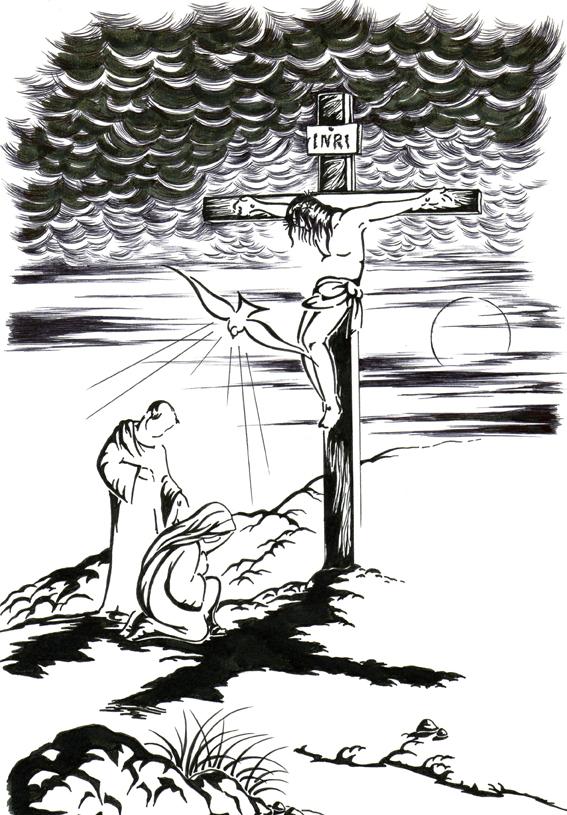El Rincn de las Melli DIBUJO Mara y Juan al pie de la cruz