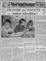 1954 Fransje en Vincent Icke maken tekenfilm