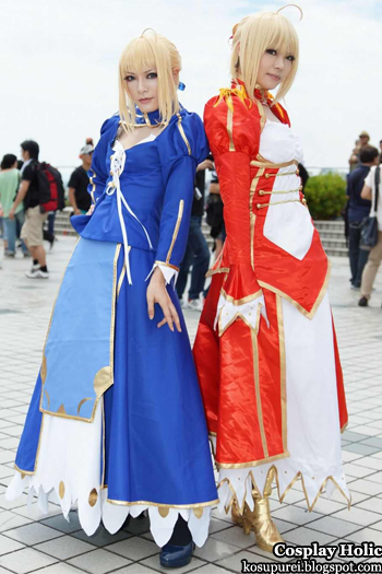 fate/extra cosplay - saber from japan comiket 82