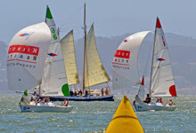 J/22 sailboats match racing in US Sailing Semi-Finals- sailing on San Francisco Bay