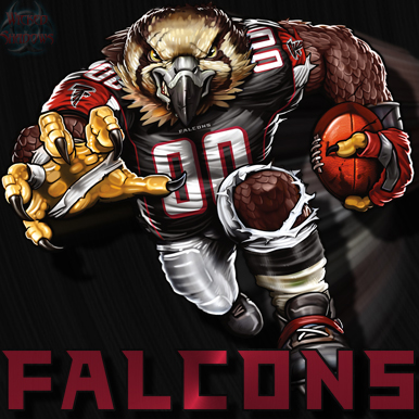 Wallpapers By Wicked Shadows: Falcons Crazy Logo Shield ... | 386 x 386 jpeg 144kB