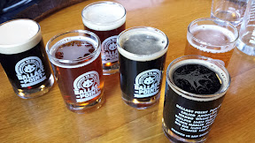 Ballast Point Brewing, taster sizes of various beers