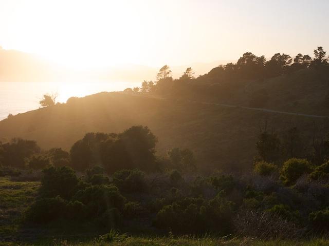 angel island sunset