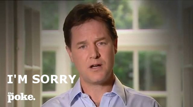 The Nick Clegg Apology Song: I'm Sorry