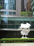 I'm a giant Hello Kitty statue - hug me!