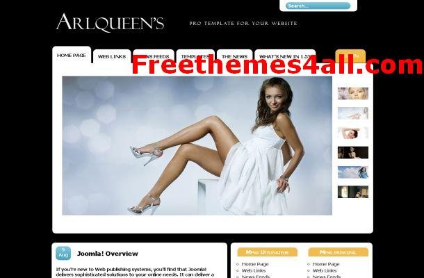 Free Jquery Fashion Blog Joomla Template