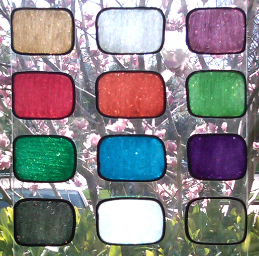 Gallery glass class color charts dry color swatches and for What kind of paint do you use to paint glass