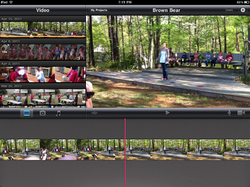 how to make a music video on imovie ipad