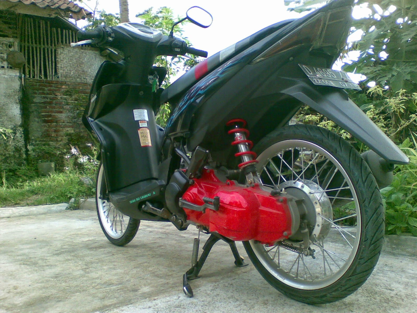 Modifikasi Yamaha Mio Sporty Velg 17