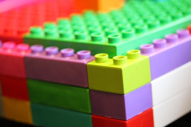 brightly colored Legos (or Duplos, to be exact)