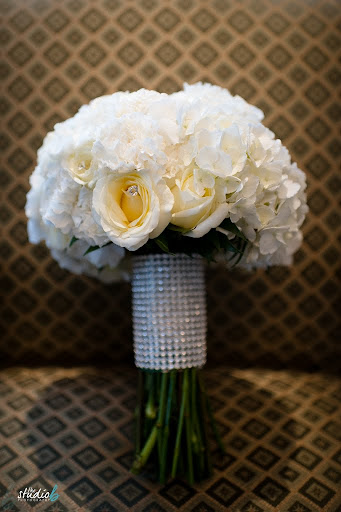 White Bling Bouquet