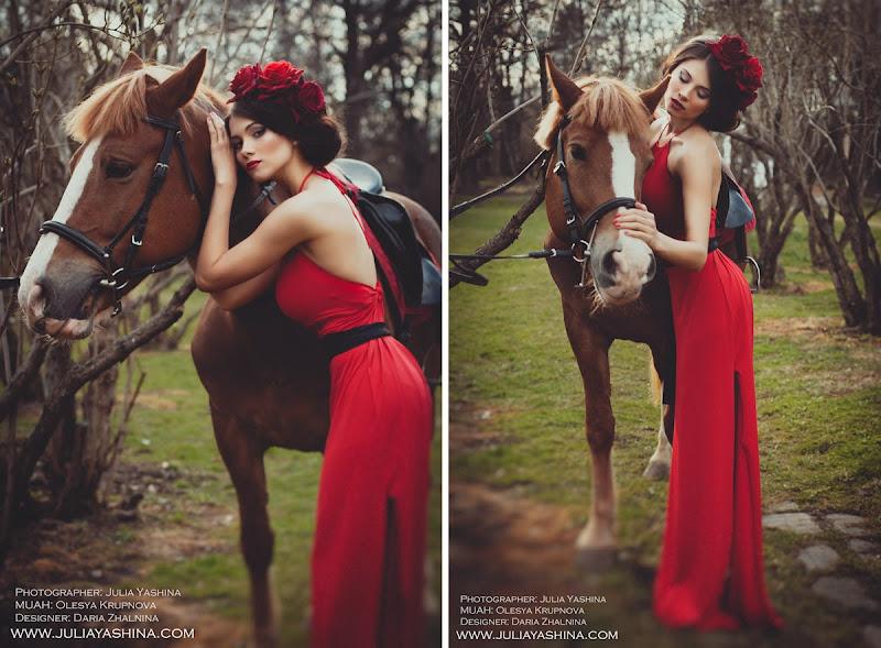 Девушка с лошадью фото