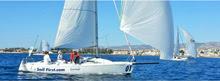 J/80 SailFirst sailing off Cyprus in Mediterranean