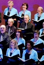 Part of the Singing For Pleasure choir